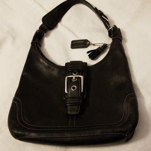 Vintage Authentic Coach Black Leather Purse
